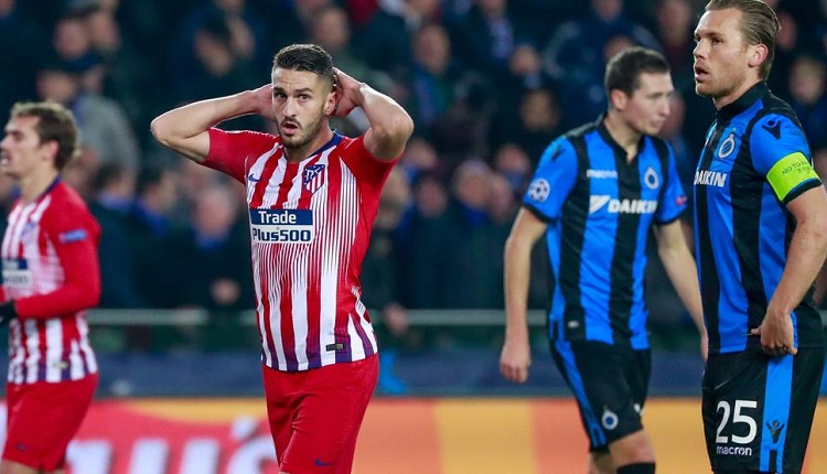 Много пропуски и разочарование за Атлетико в Белгия