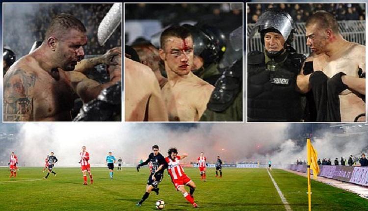 Тежки сблъсъци, ранени и кръв на сръбското Вечно дерби