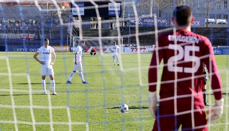 Две дузпи и куриозна ситуация в мач от Първа лига