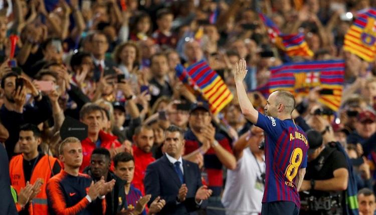 Барселона изпрати Иниеста с победа