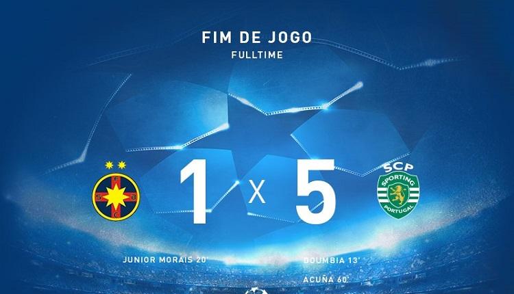 Спортинг (Лисабон) победи Стяуа с 5:1