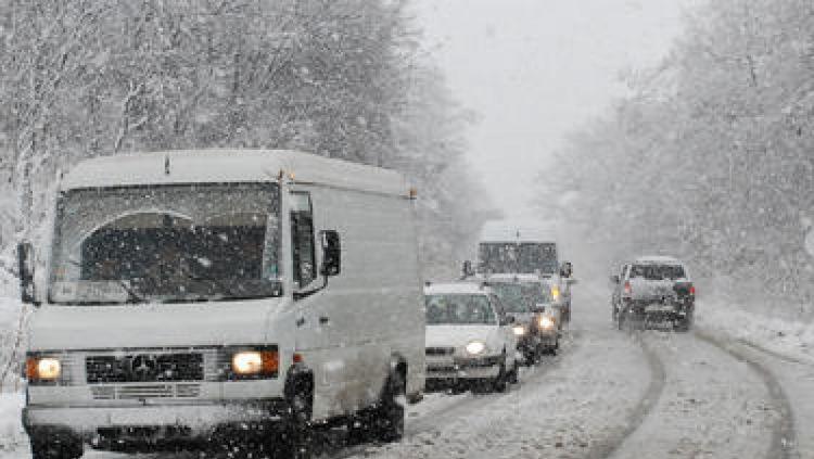 сняг пътища